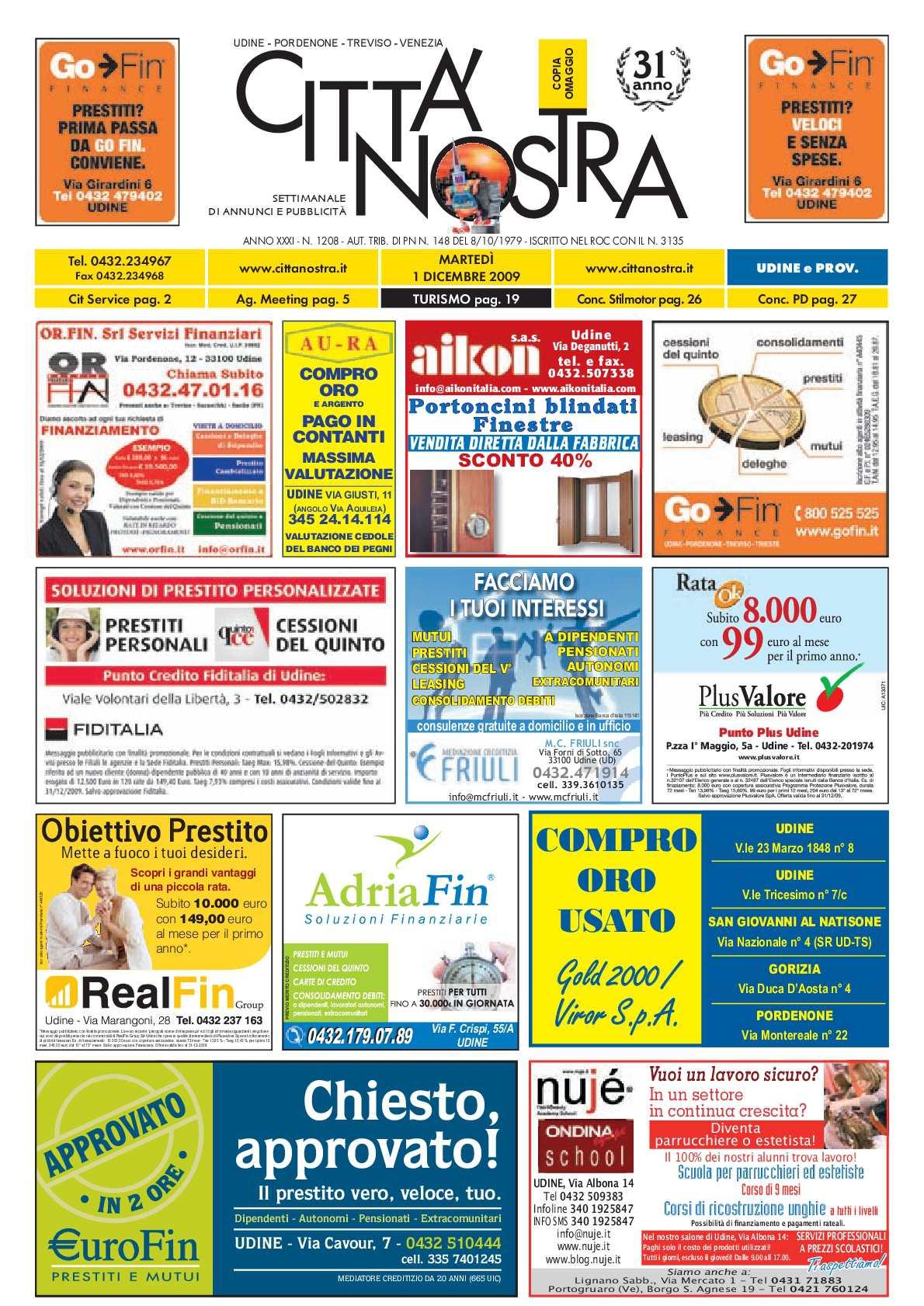 Calaméo - Città Nostra Udine del 01.12.2009 n. 1208 84d261f5110