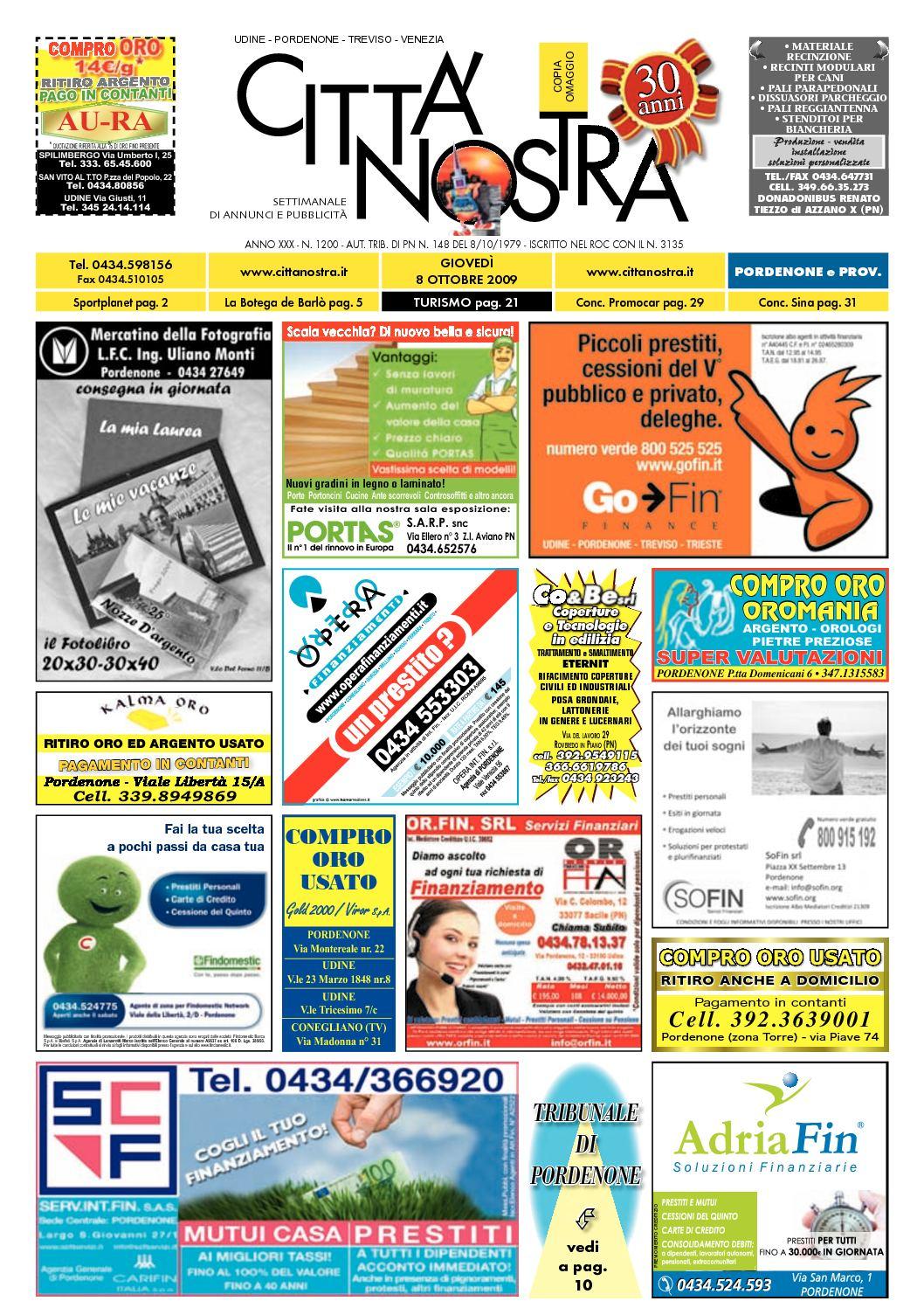 buy popular fb17d 29969 Calaméo - Città Nostra Pordenone del 08.10.2009 n. 1200