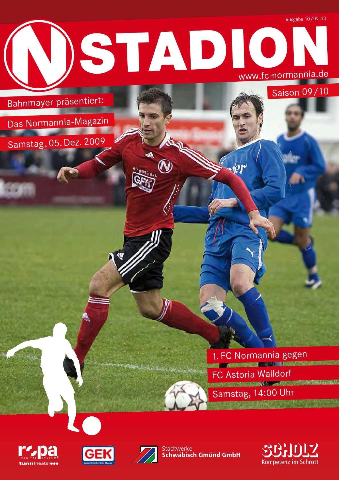 Calaméo - FC Normannia Gmünd - Astoria Walldorf