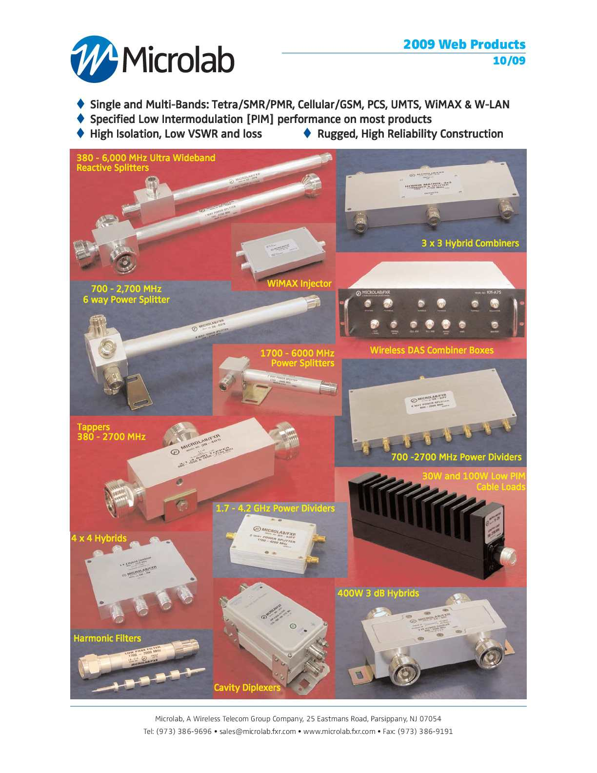 NEW MICROLAB DN-84FN COAXIAL MULTI-BAND UNEQUAL SPLITTER
