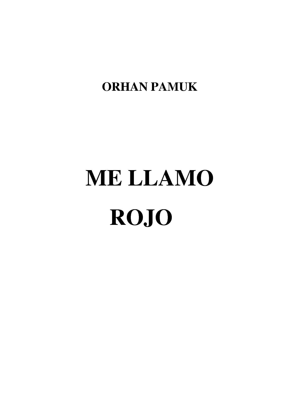 Calaméo Me Llamo Rojo De Orhan Pamuk