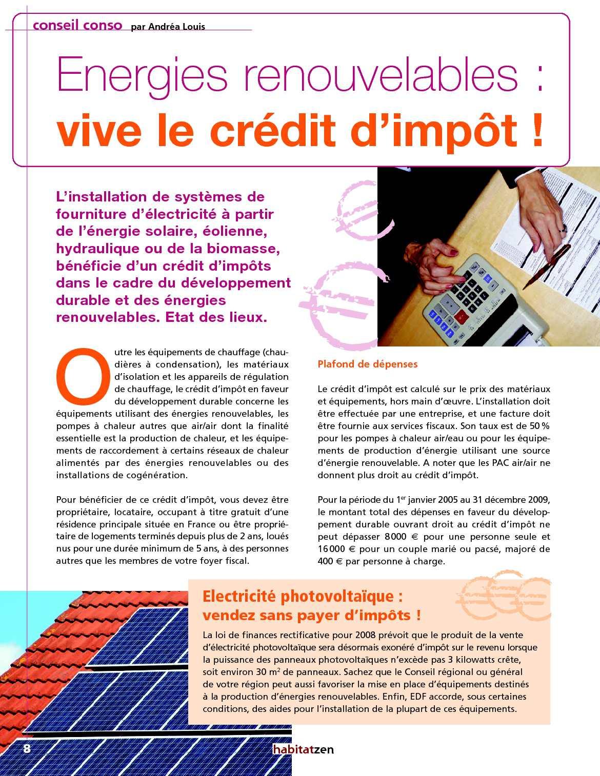 Credit Impot Chauffage Reversible habitat zen : le magazine maison déco écolo - calameo downloader