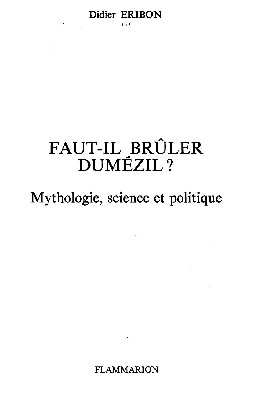 Calaméo Dumézil Dumézil Didier Éribon Sur Calaméo Didier Sur Éribon kiPZulTOXw