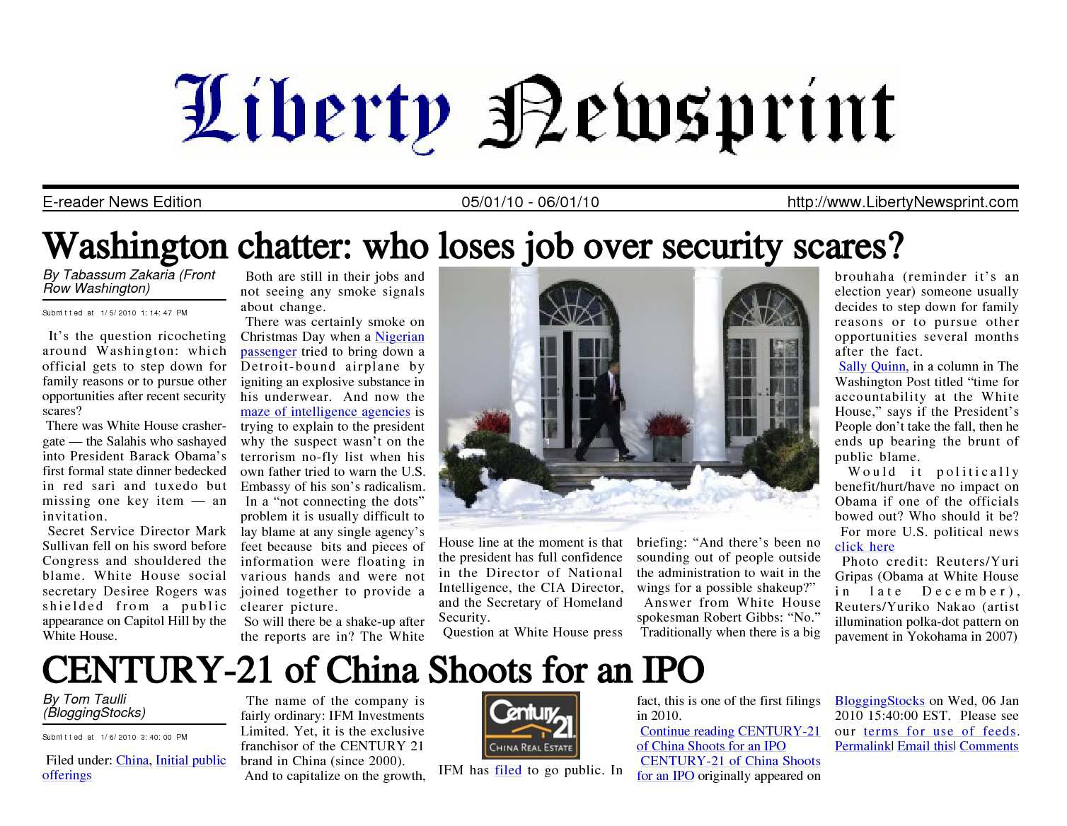 Calameo Liberty Newsprint Jan 06 10