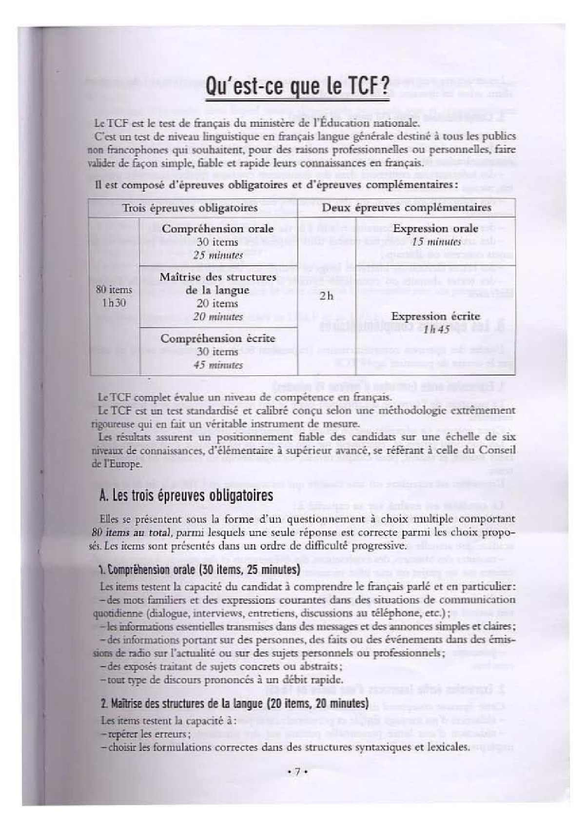 TÉLÉCHARGER TCF 250 ACTIVITES GRATUIT