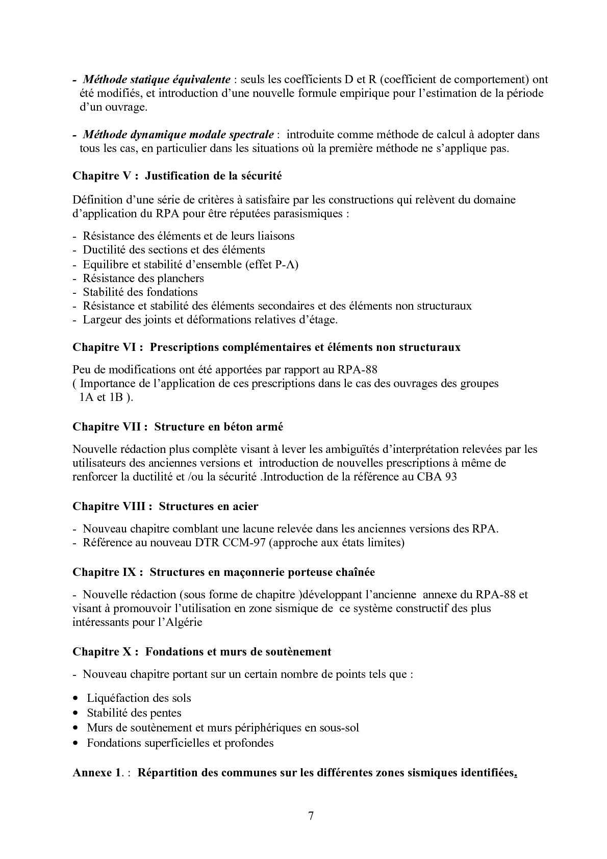 PARASISMIQUE TÉLÉCHARGER ALGERIEN REGLEMENT