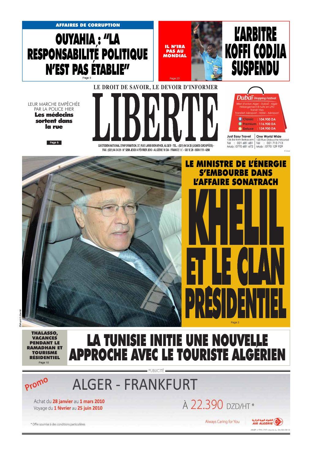 Algerie 2010 04 Liberte Calaméo Fevrier liberte Du zvwqzfC5x
