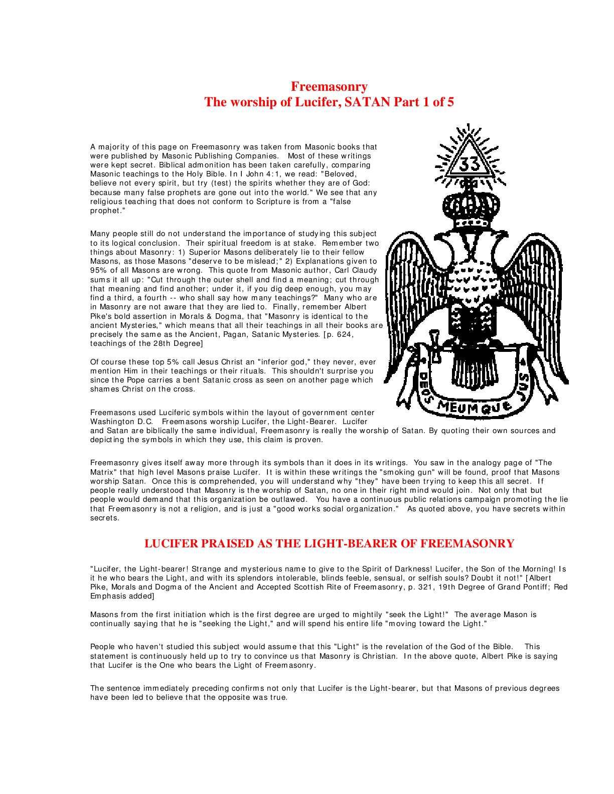 Calaméo - David Icke - Freemasons,Satanism and Symbolism