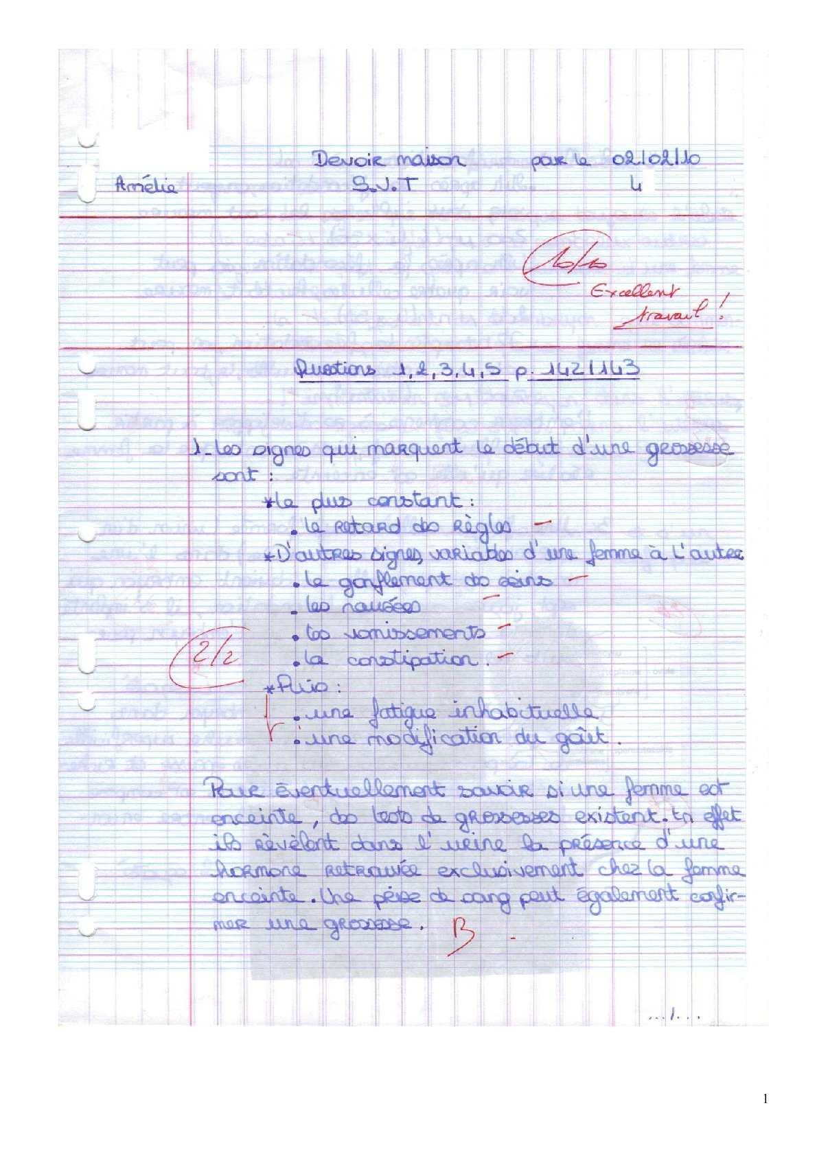 Terms Of Use >> Calaméo - Devoir maison SVT 4ème - la grossesse