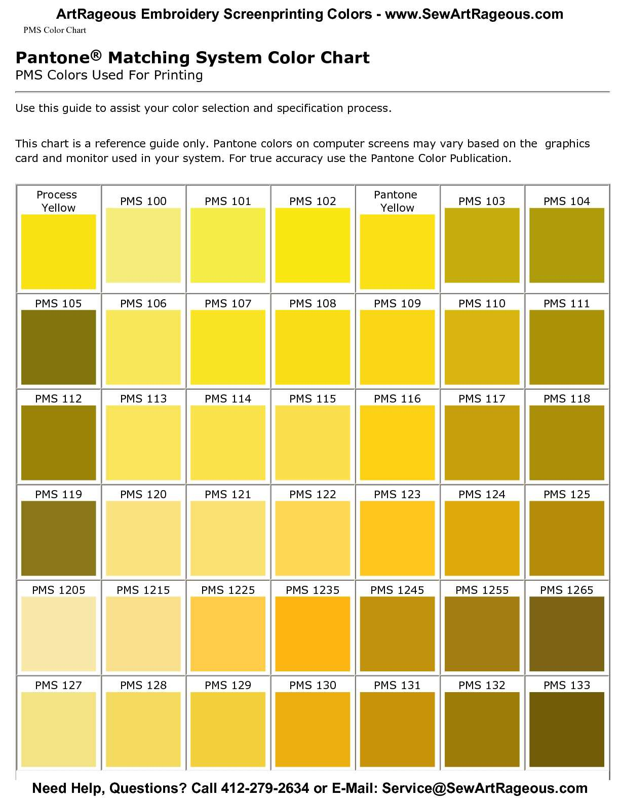 Calaméo - Custom Screenprinting PMS Color Charts