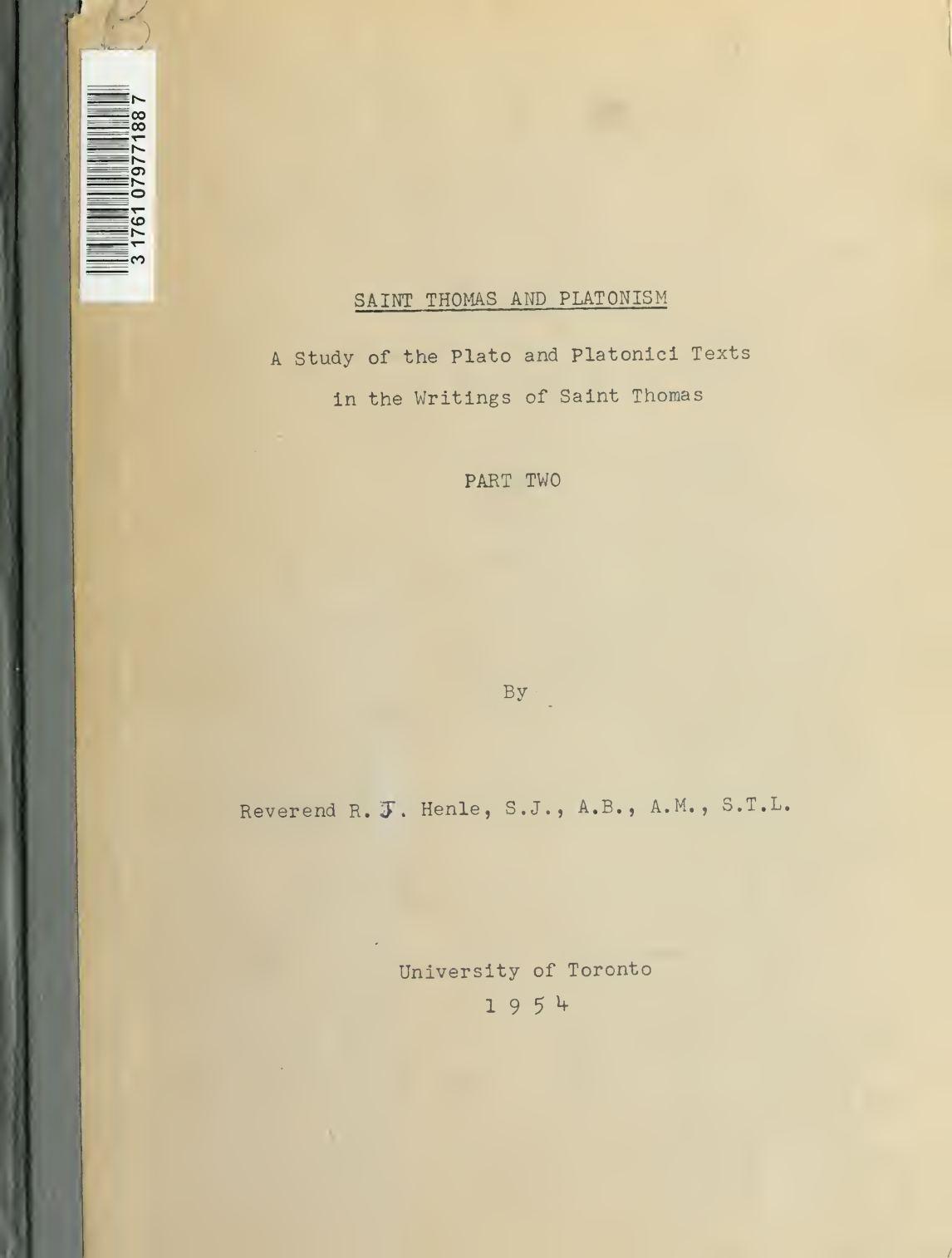 Calaméo Saint Thomas and Platonism A Study of the Plato