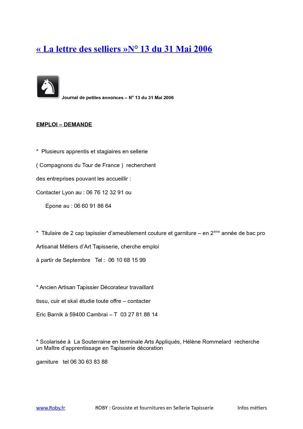 Matériel De Tapissier D Occasion calaméo - roby-fournitures-sellerie-lettre-selliers-13