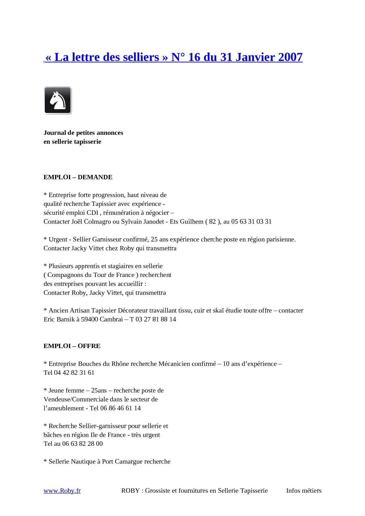 Matériel De Tapissier D Occasion calaméo - roby-fournitures-sellerie-lettre-selliers-16