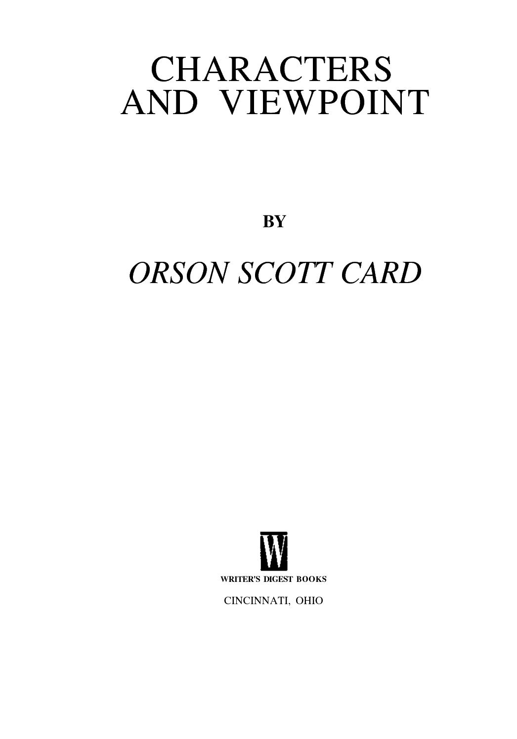 Calaméo - Card, Orson Scott - Characters & Viewpoint (Elements of