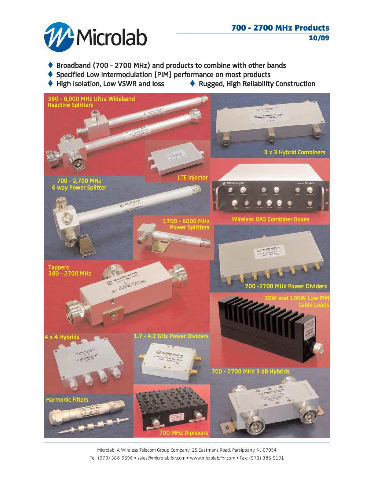 MICROLAB//FXR CM-81N HYBRID MATRIX 3*3 700-2700 MHz