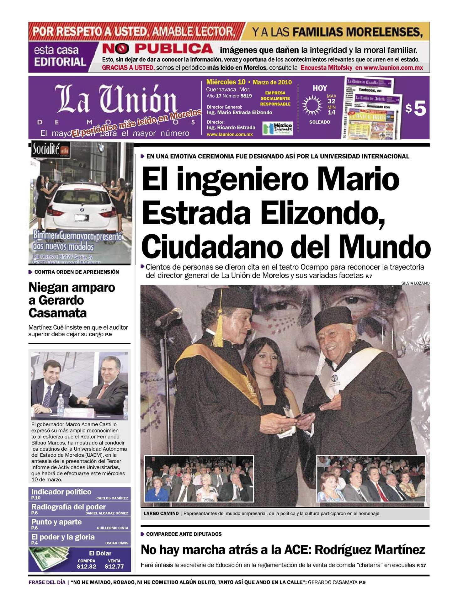 Calaméo - La Unión de Morelos 10 Marzo 2010 4d80cab85f1a