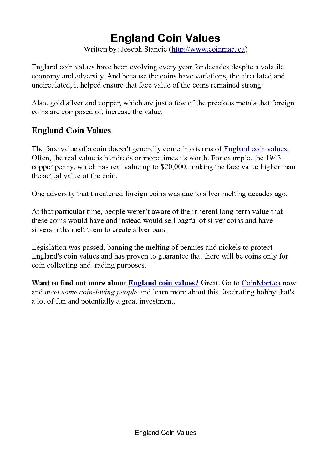 Calaméo - England Coin Values