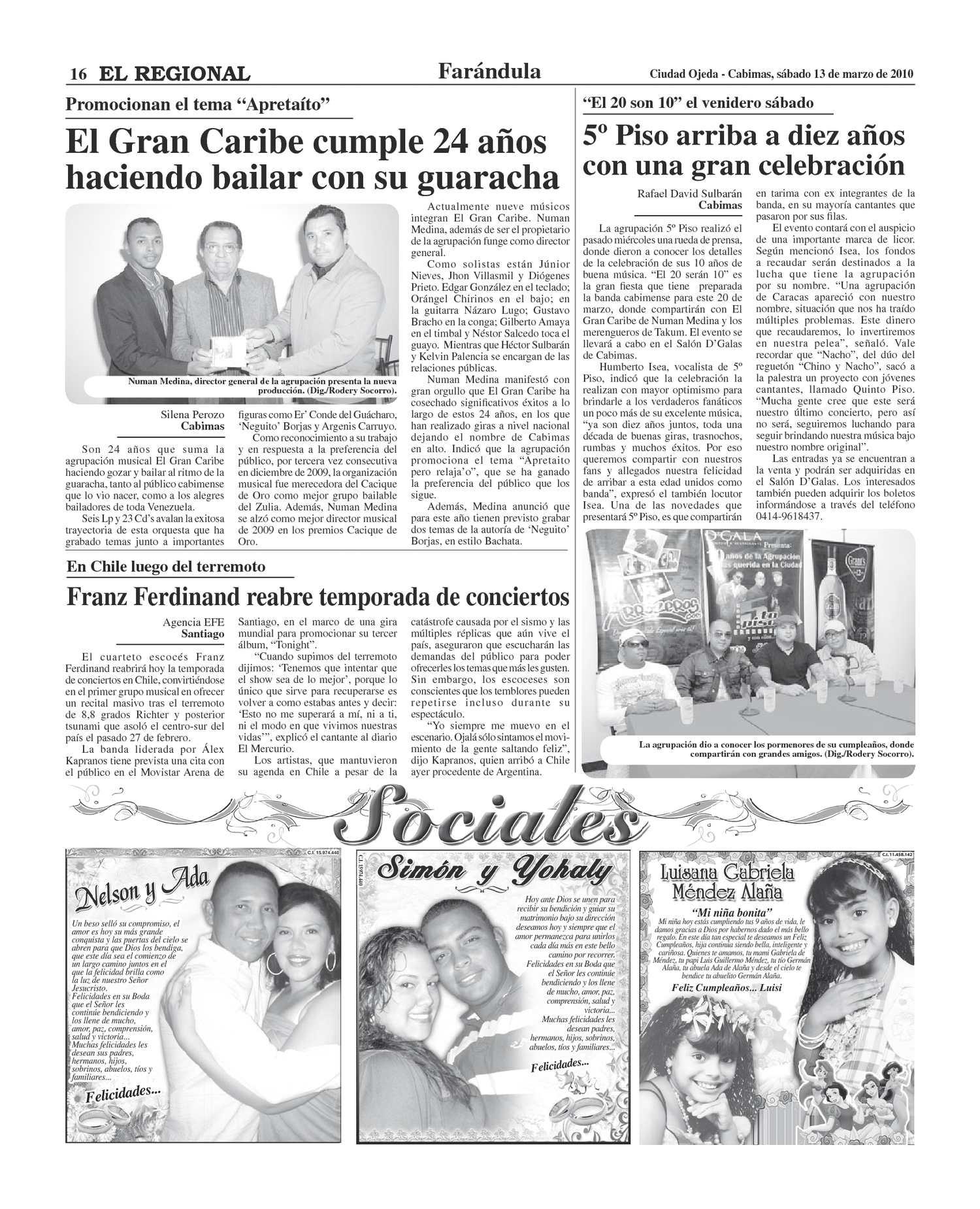 cd del conde del guacharo 2009
