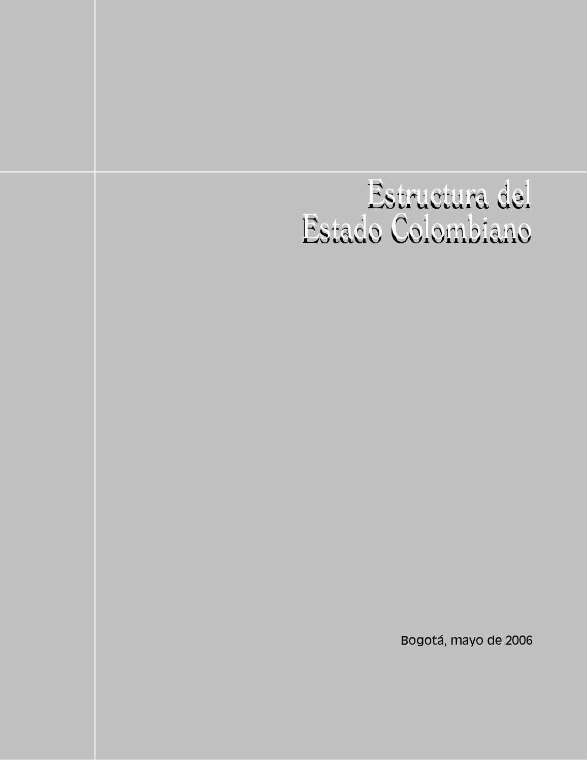 Calaméo Manual De Estructura Del Estado Colombiano