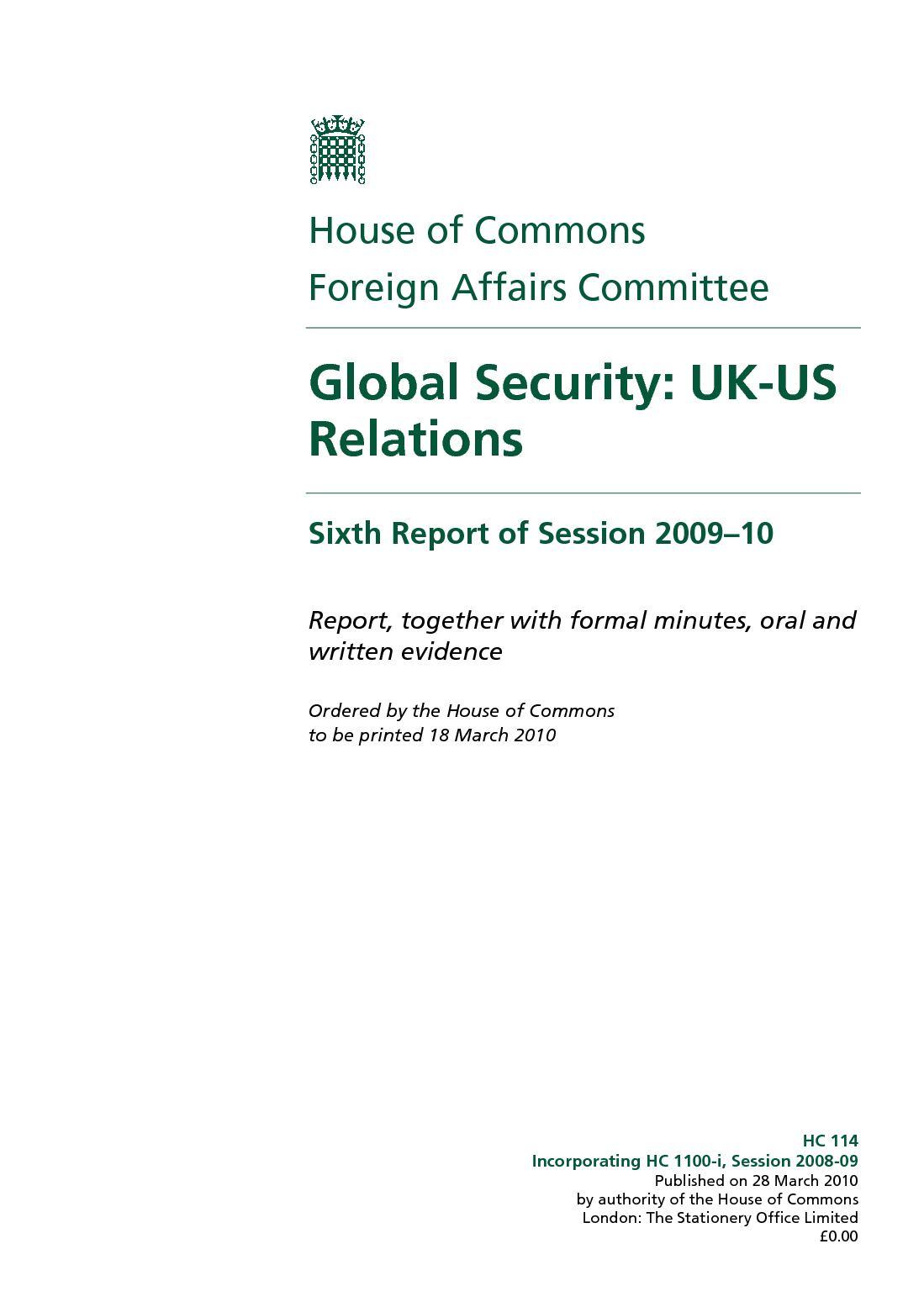 Calaméo   Global Security  UK US Relations rapport de mars 21