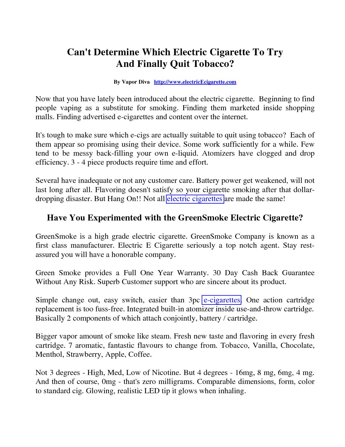 Calaméo - Can't Determine Which Electric Cigarette To Use
