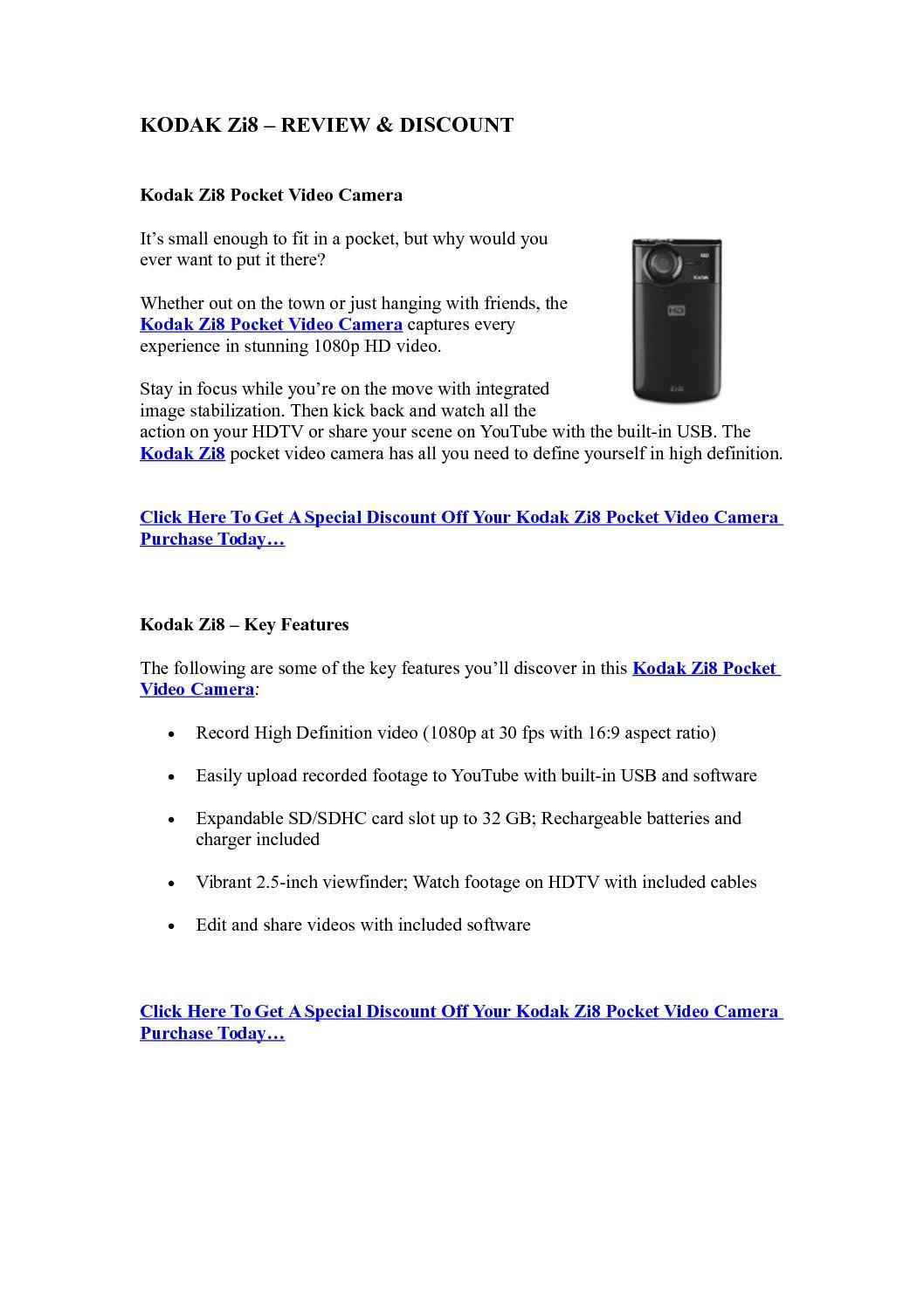 Calaméo - Kodak Zi8 – Review & Discount | Best Camcorders