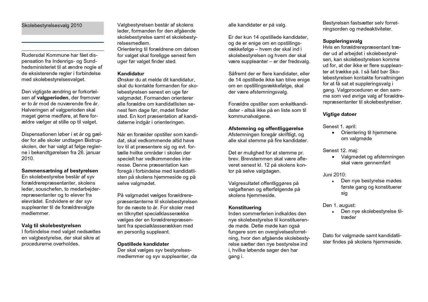 Calaméo - Folder til skolebestyrelsesvalget - 2010 _2_