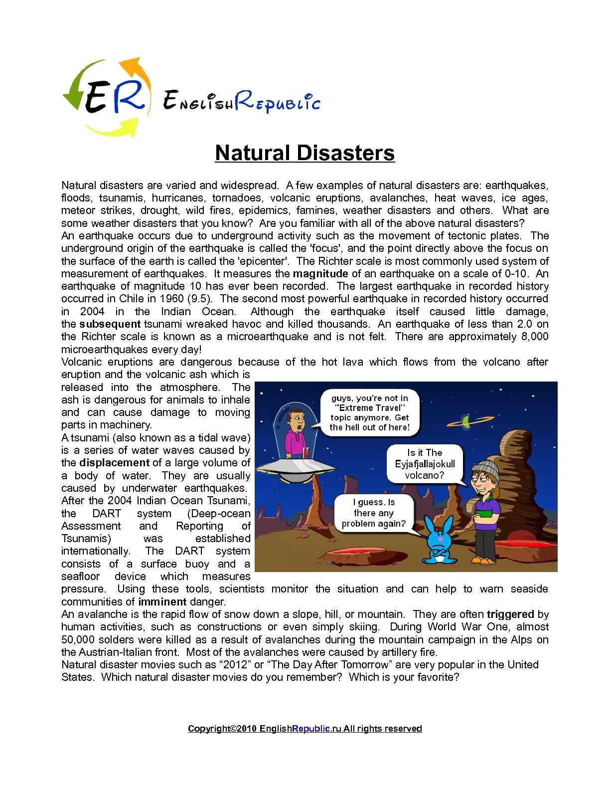Disaster Englisch