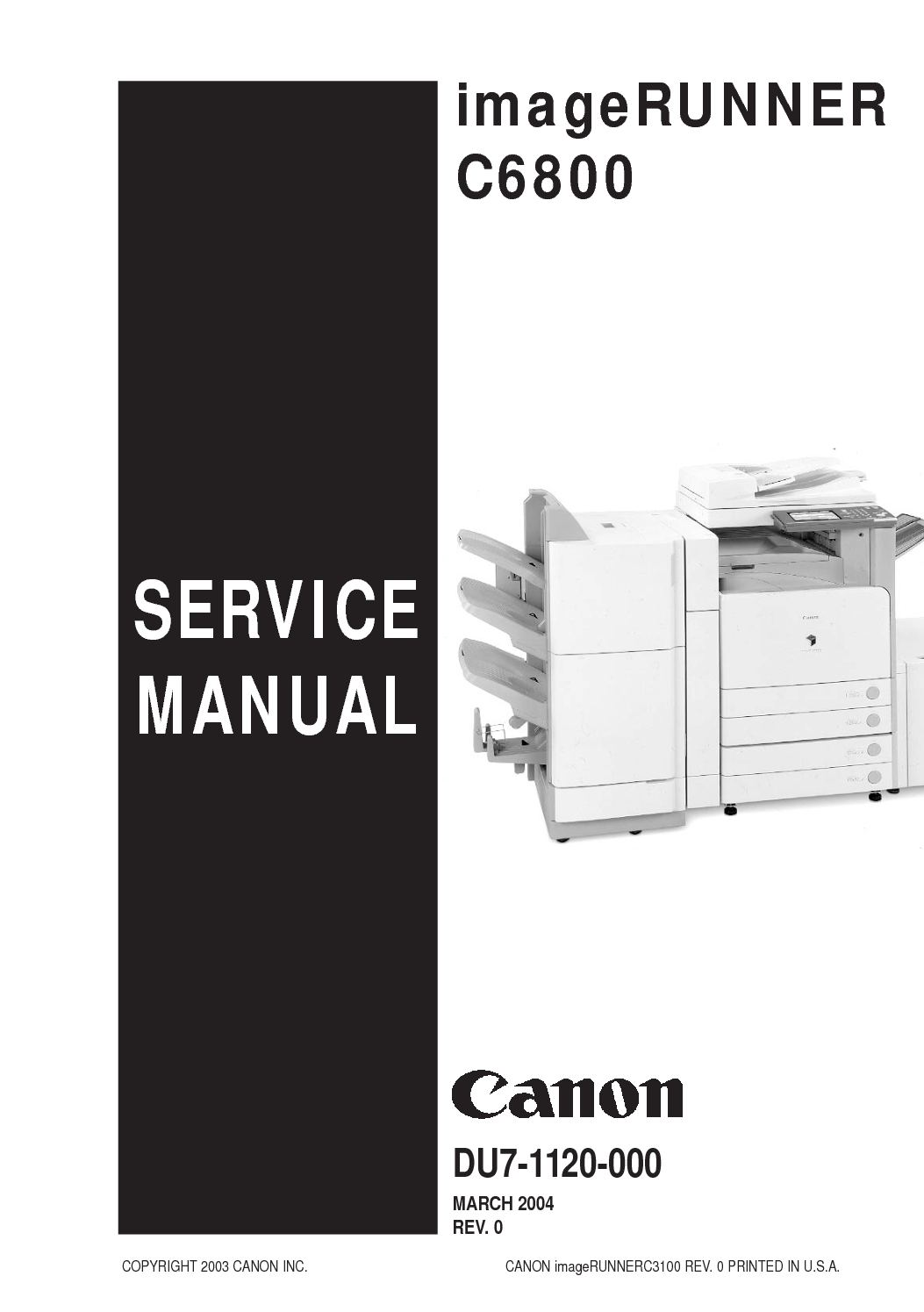 imageRUNNER C6800 Parts and Service Manual