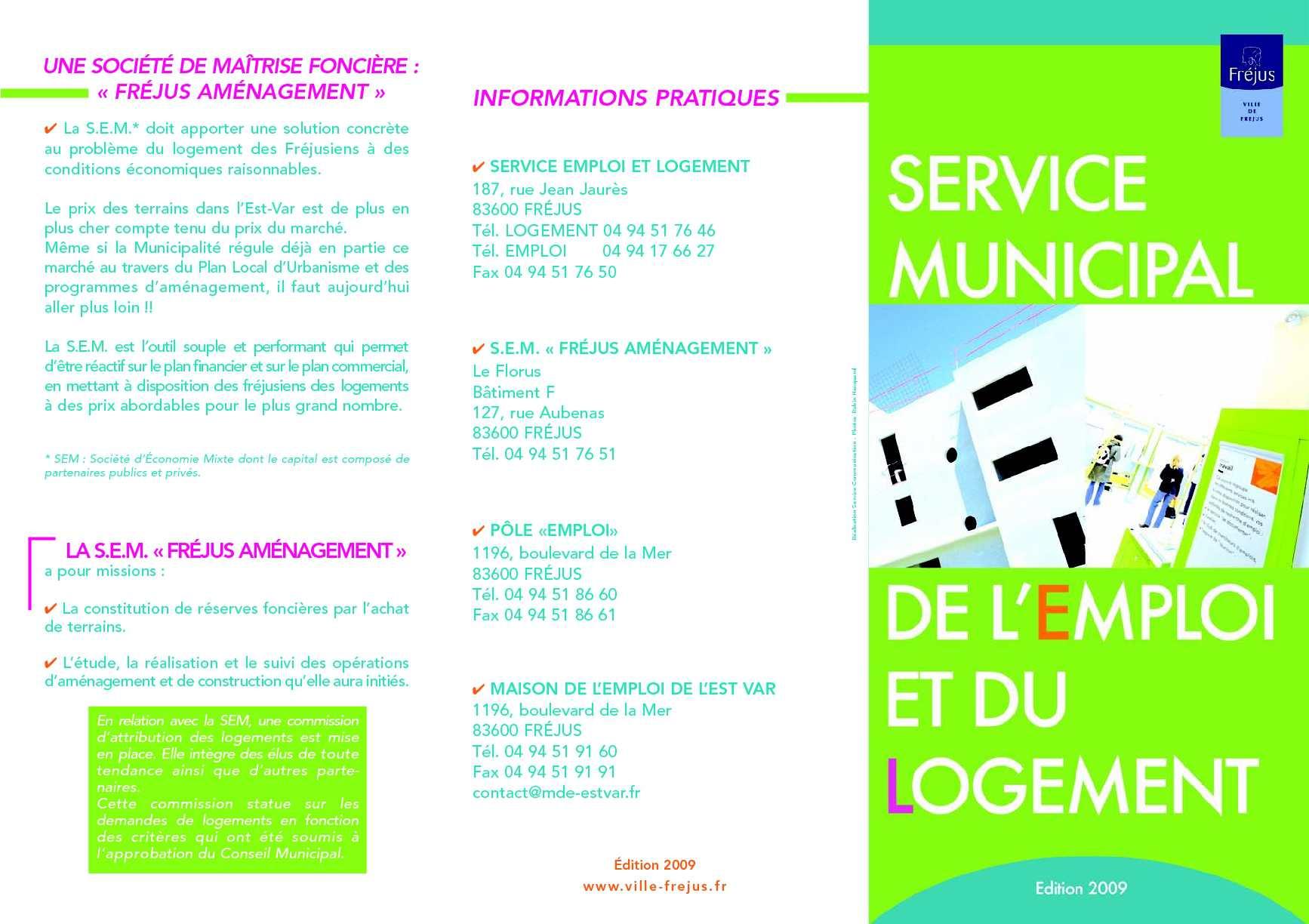 Calameo Le Service De L Emploi Et Du Logement A Frejus