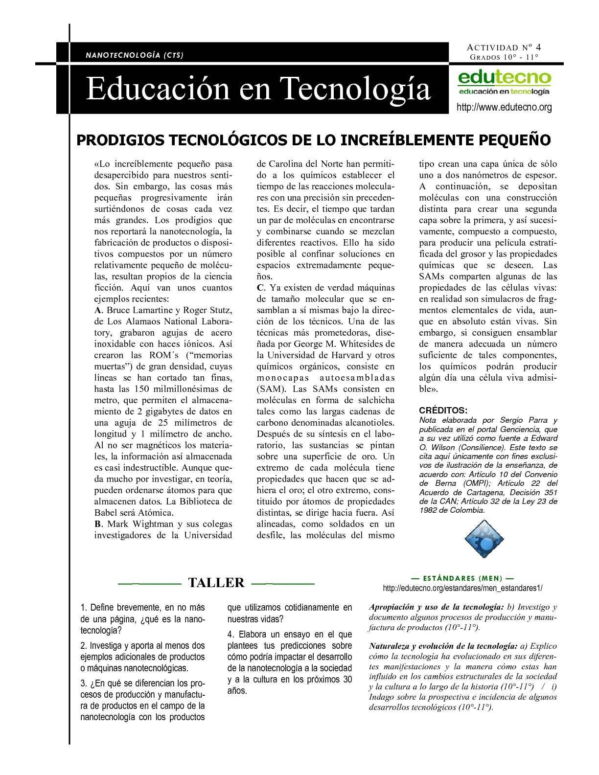 PRODIGIOS TECNOLÓGICOS DE LO INCREÍBLEMENTE PEQUEÑO