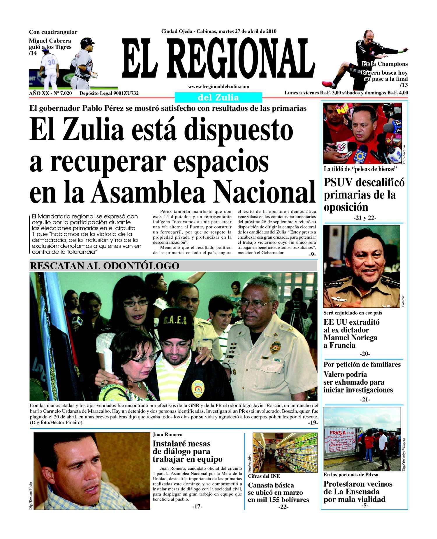 Calameo El Regional Del Zulia 27 04 2010