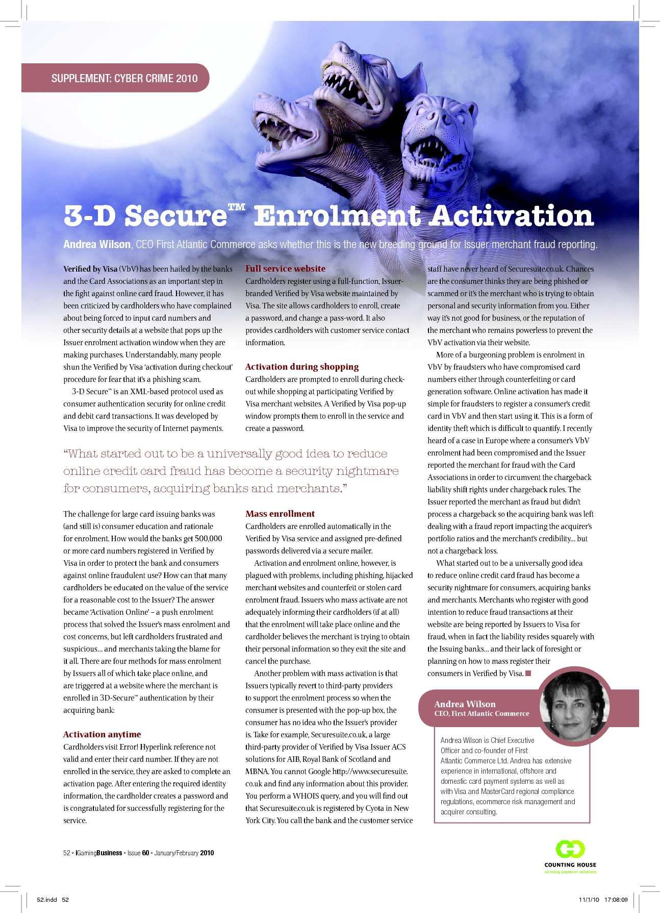 Calaméo - 3-D Secure Enrolment Activation - Andrea Wilson