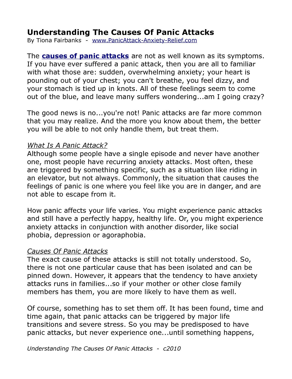 A panic causes attack what What Causes
