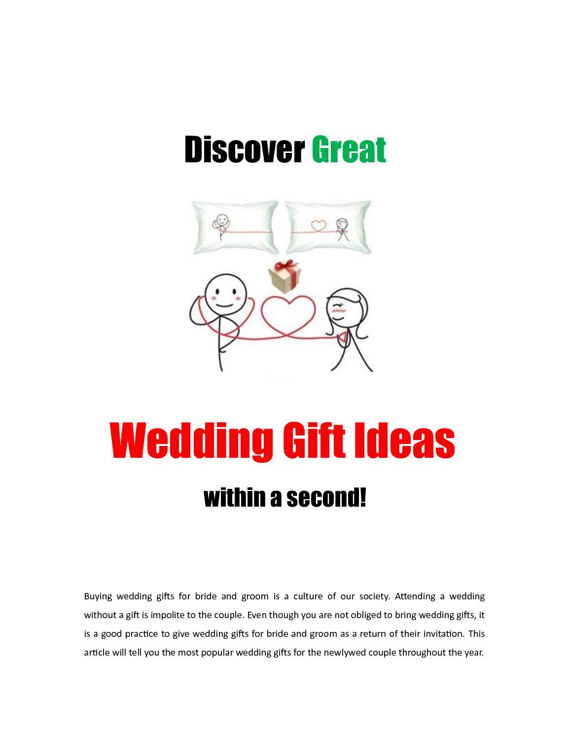 Calameo Get Wedding Gift Ideas Fast