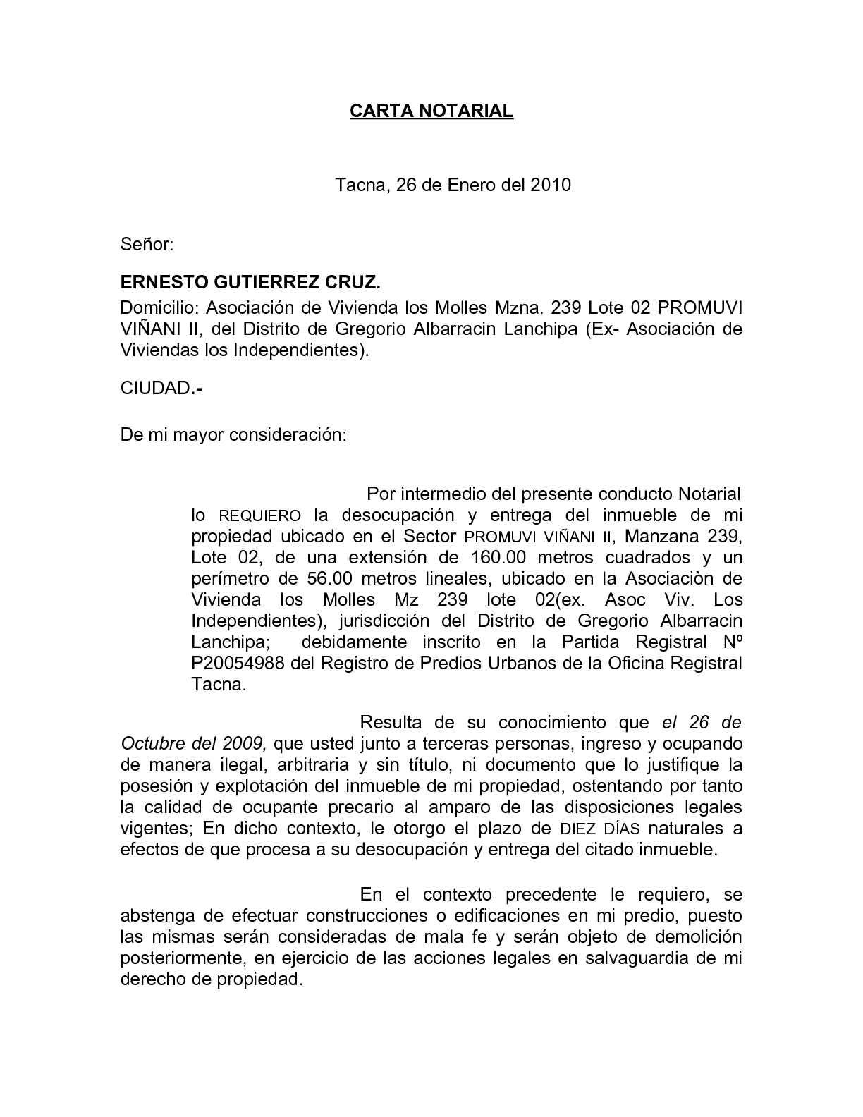 Calaméo Carta Notarial
