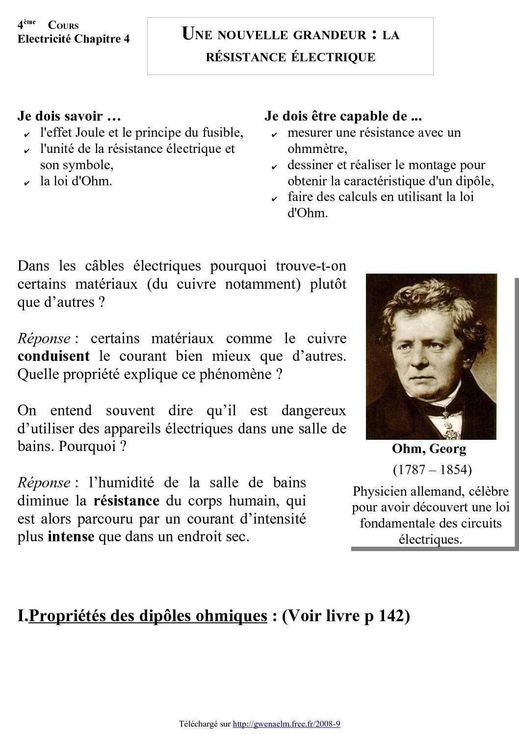 CALCUL LA VALEUR DE RESISTANCE TÉLÉCHARGER OHMIQUE