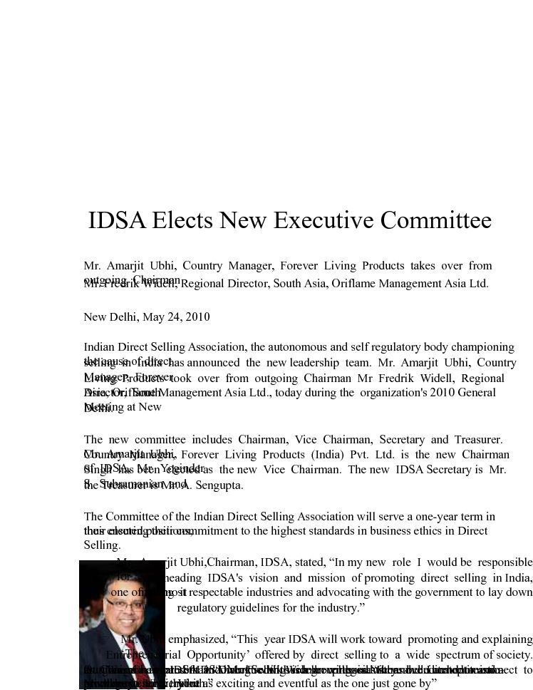Calaméo - IDSA Elects New Executive Committee