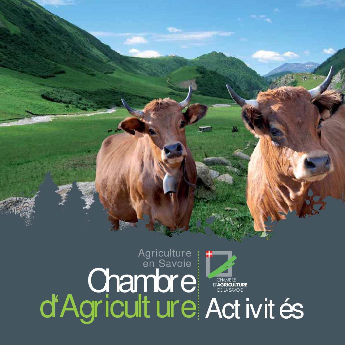 Calam o activit s chambre d 39 agriculture de la savoie - Chambre des metiers savoie ...
