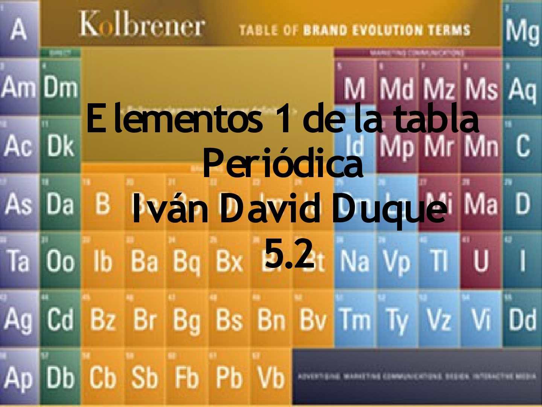 Calaméo - grupo 1 de la tabla periodica