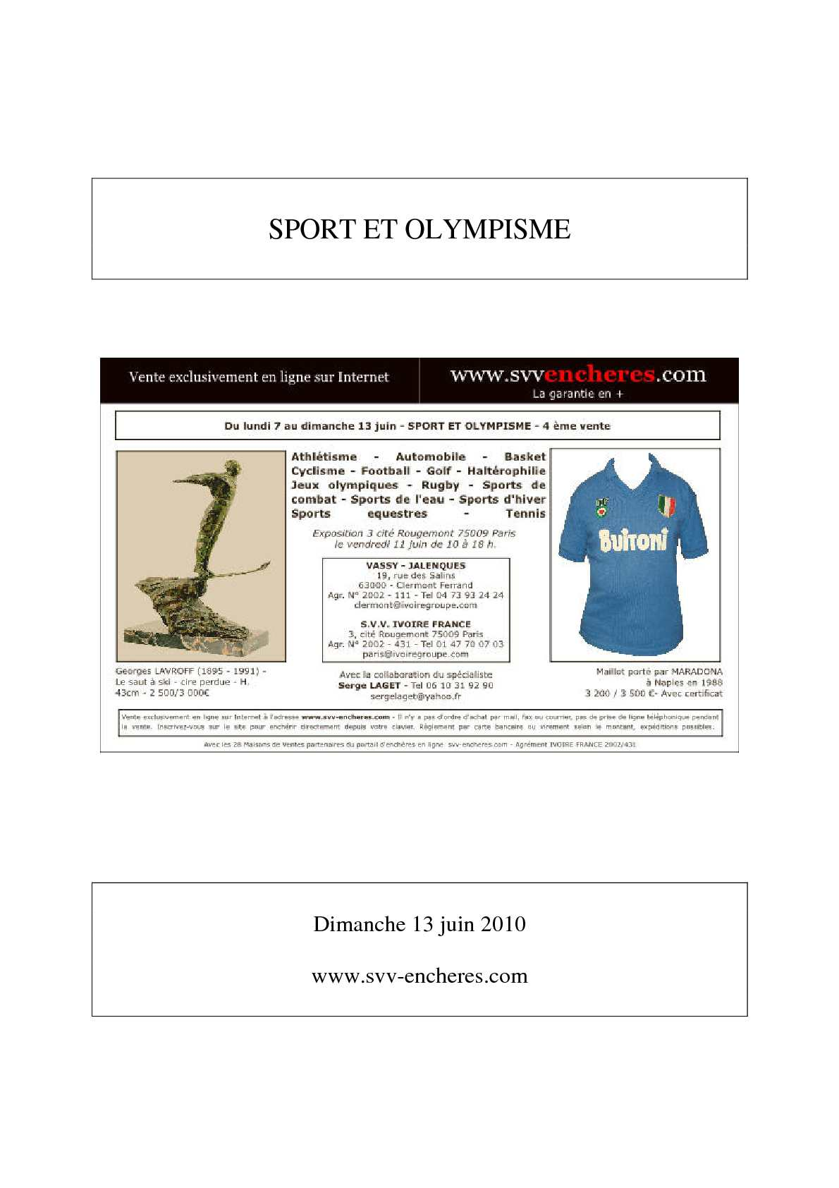 Vente Olympisme Et 2010 Calaméo 13 Sport Juin T1K3lJFc