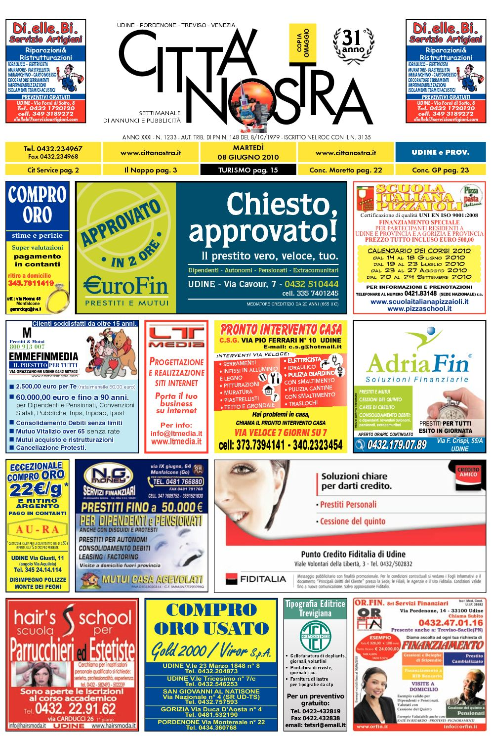 Calaméo Città Nostra Udine del 08.06.2010 n. 1233