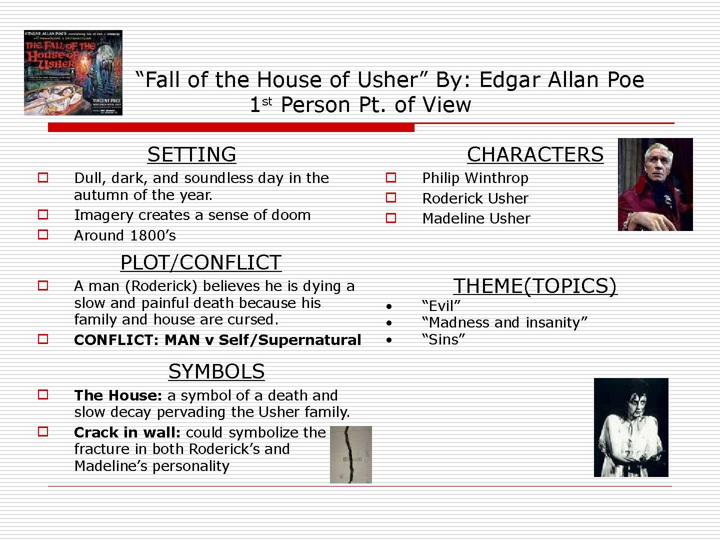 Fall of the house of usher analysis essay