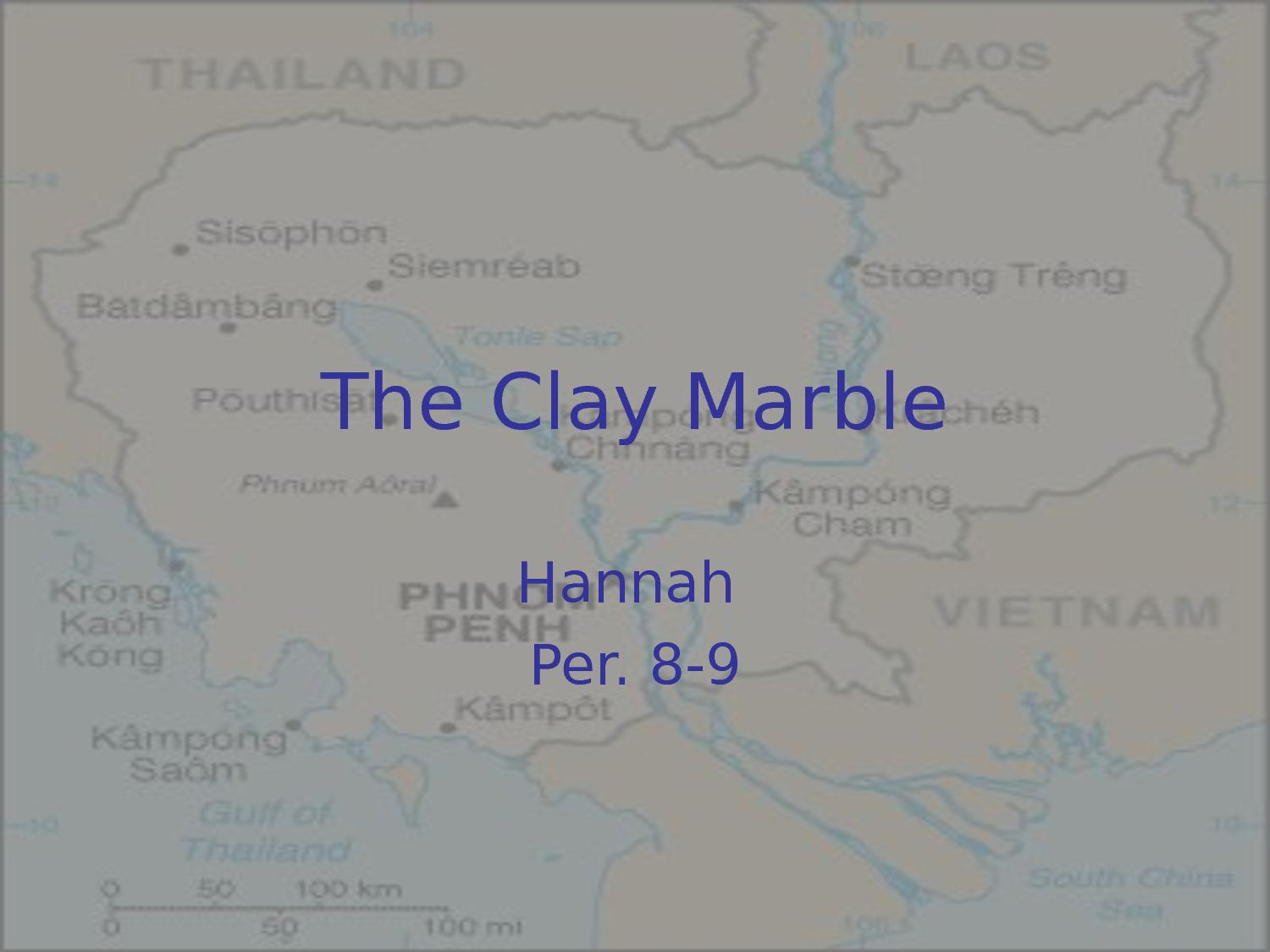 Calam 233 O The Clay Marble Hannah