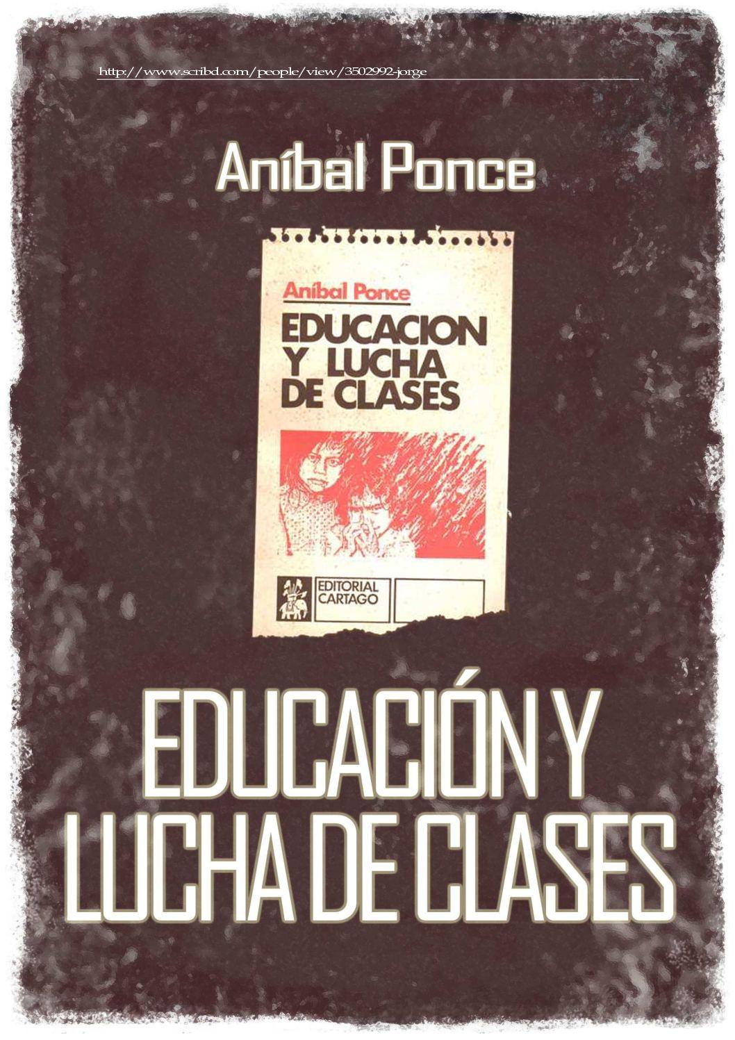 Calaméo - Anibal-Ponce-Educacion-y-lucha-de-clases-libro
