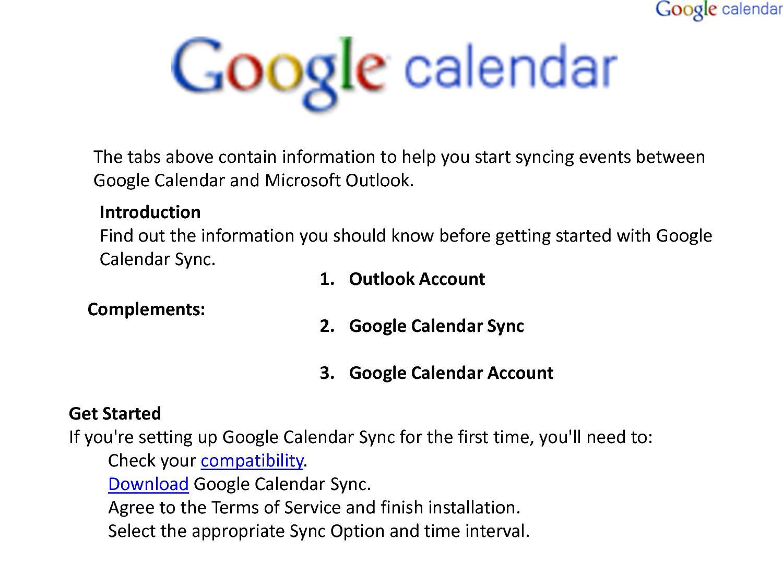 Calaméo - Google Calendar Install