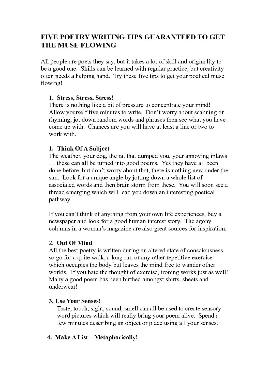 5 minute poems to recite