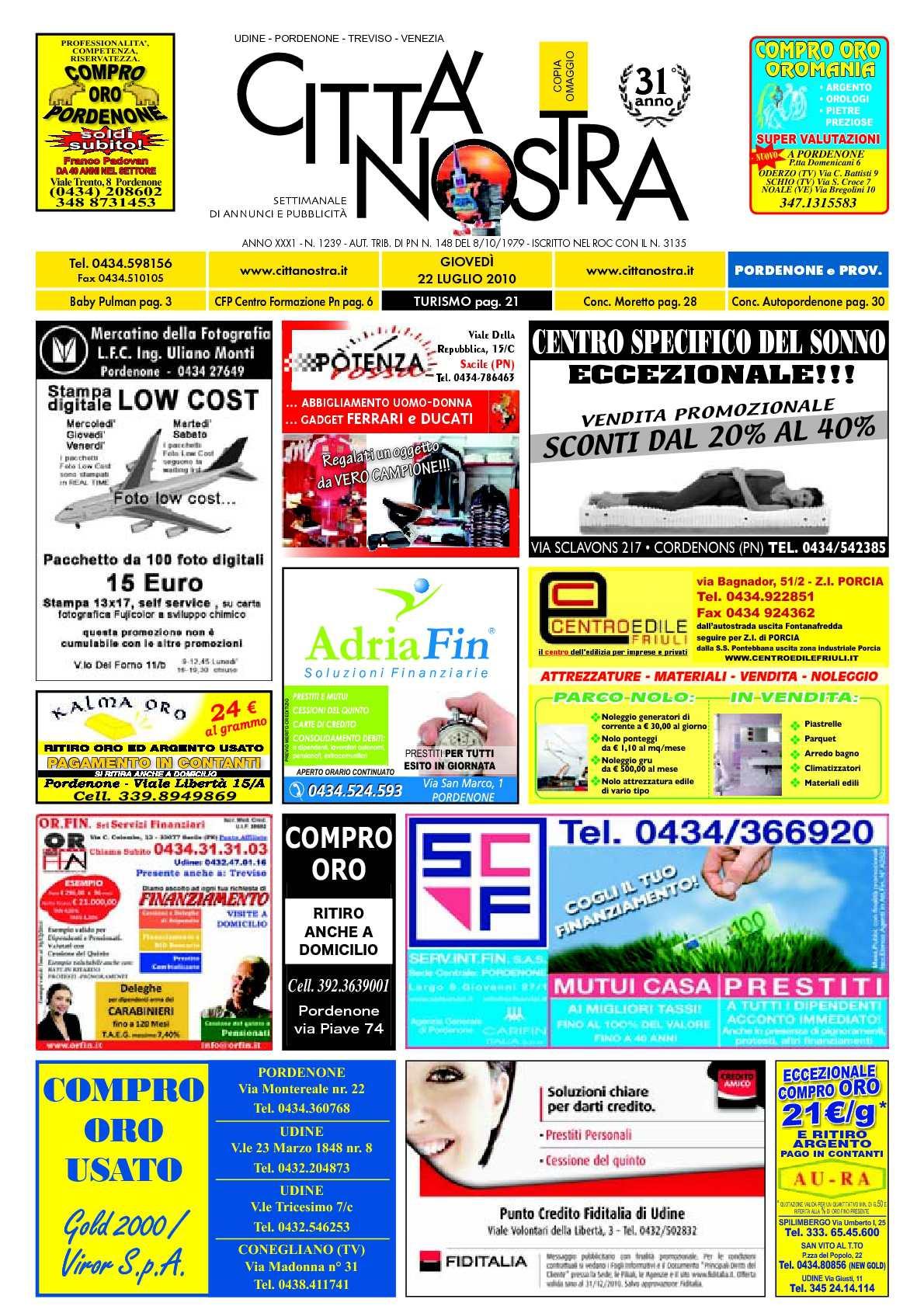 897aa4e35e06 Calaméo - Città Nostra Pordenone del 22.07.2010 n. 1239