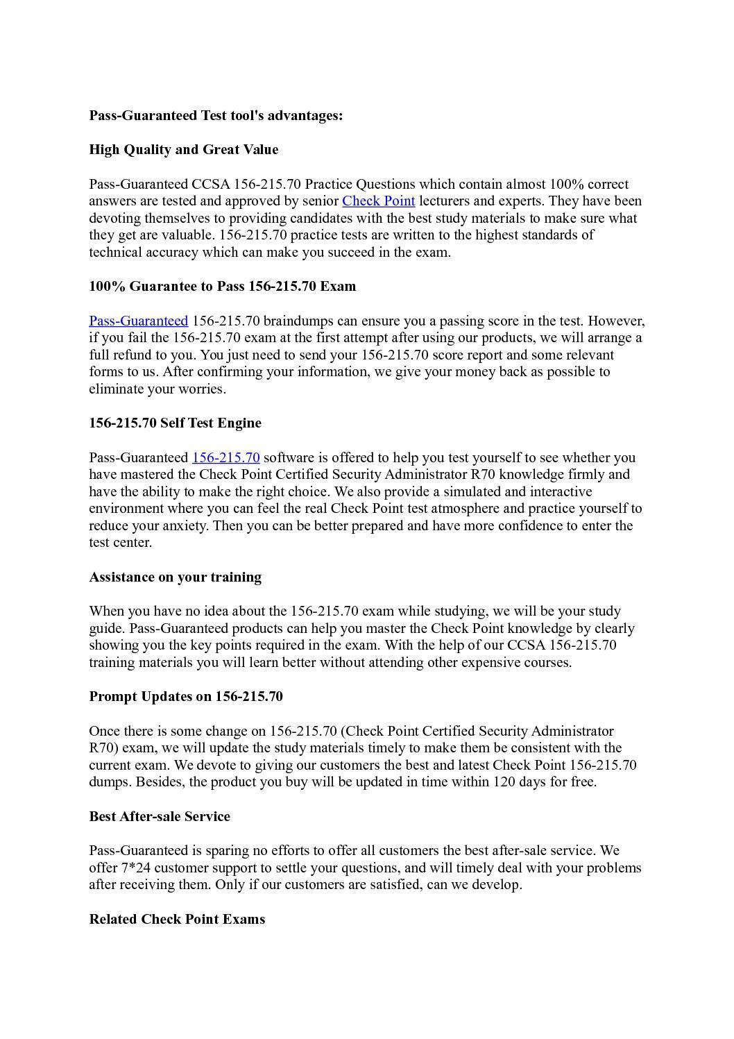 Calaméo - Check Point 156-215 70 Exam