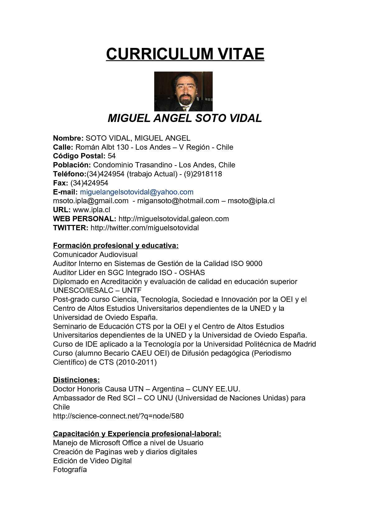 Calameo Cv Resumen Ejecutivo De Miguel Angel Soto Vidal